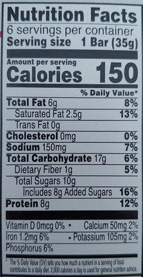 Kellogg's Special K Cereal Bars Fruit & Nut 1.23oz - Nutrition facts - en