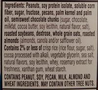 Chocolate peanut pecan protein snack bar, chocolate peanut pecan - Ingrediënten - en
