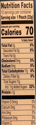Assorted fruit flavored snacks, fruit - Nutrition facts - en