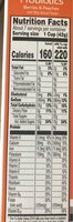 Cereal, berries & peaches - Nutrition facts - en