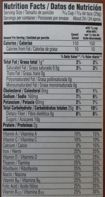 Chocolate Frosted flakes - Nutrition facts