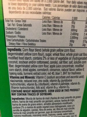 Sweetened cereal, apple & cinnamon - Ingredients - en