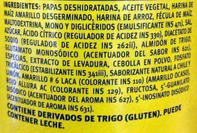 Pringles Chile y Limón - Ingredientes - es