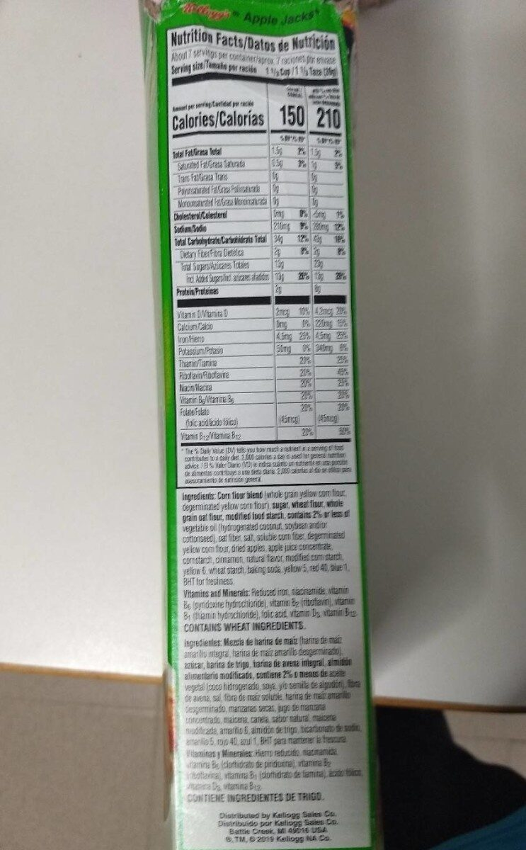 Sweetened cereal with apple & cinnamon - Nutrition facts - en