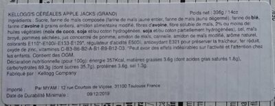 Apple Jacks breakfast cereal - Nutrition facts - en