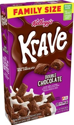 Krave cereal with double chocolate flavored center - Product - en