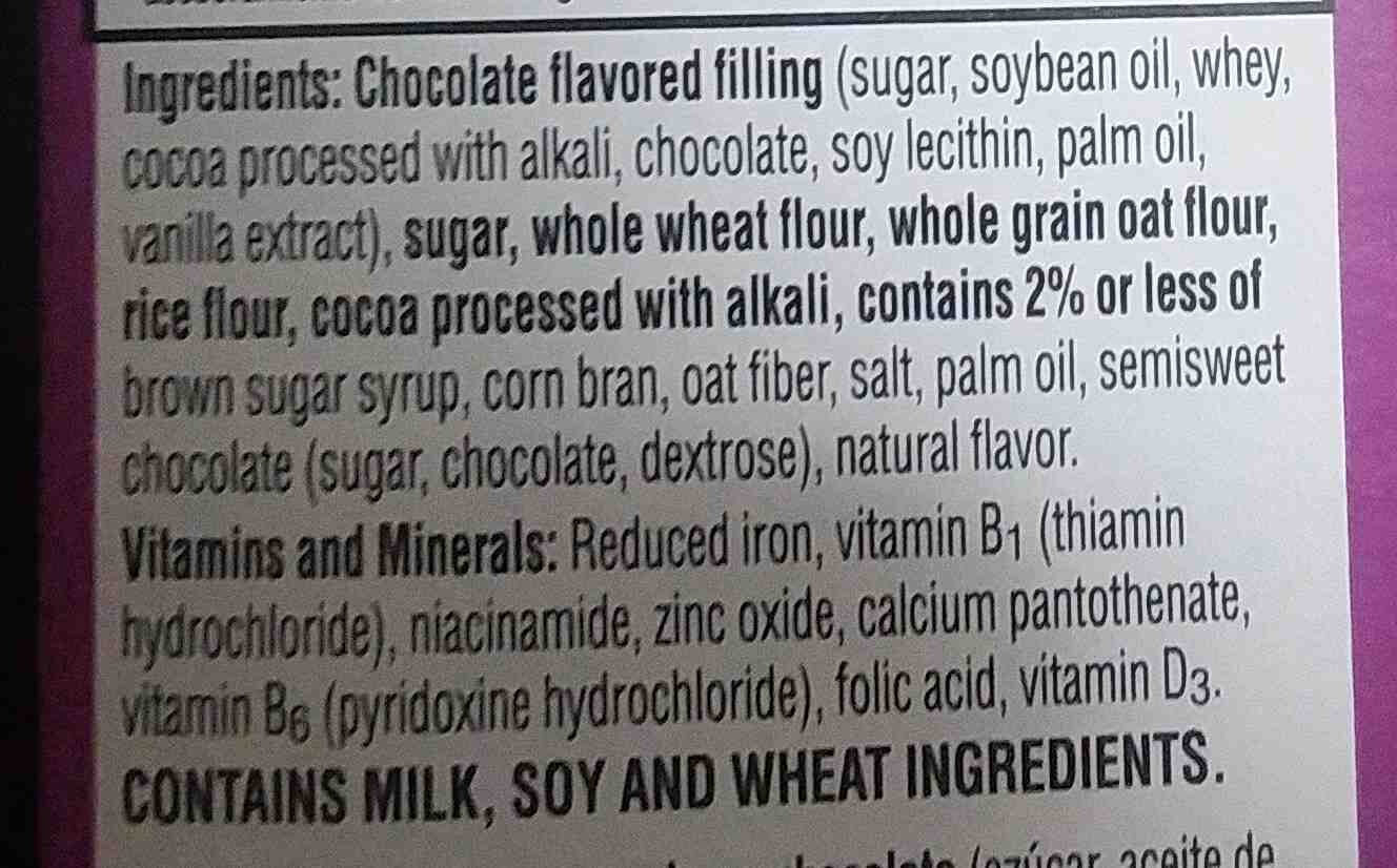 Krave cereal with double chocolate flavored center - Ingredients - en