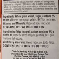 frosted mini wheats - Ingredients