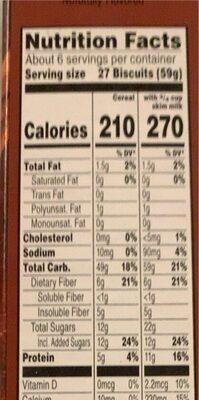 Pumpkin spice whole grain cereal, pumpkin spice - Nutrition facts - en