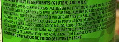 Pringles Crema y Cebolla - Ingrediënten - es