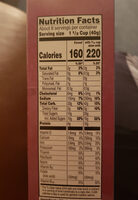 cereal - Nutrition facts