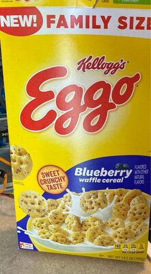 Eggo blueberry breakfast cereal family size - Nutrition facts - en