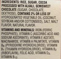 Kellogg'S Cocoa Krispies Cereal 1.38Oz - Ingrédients - fr