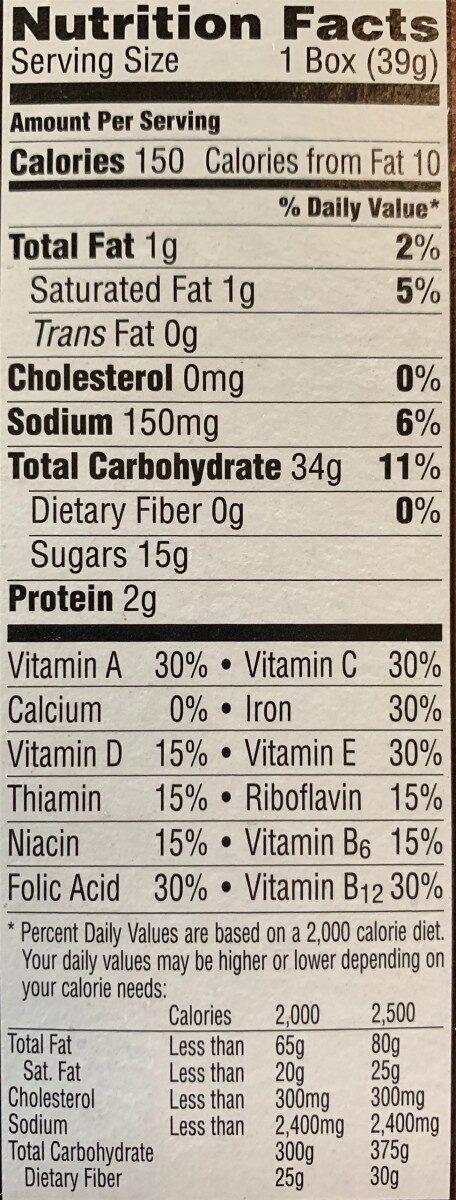 Kellogg'S Cocoa Krispies Cereal 1.38Oz - Informations nutritionnelles - en