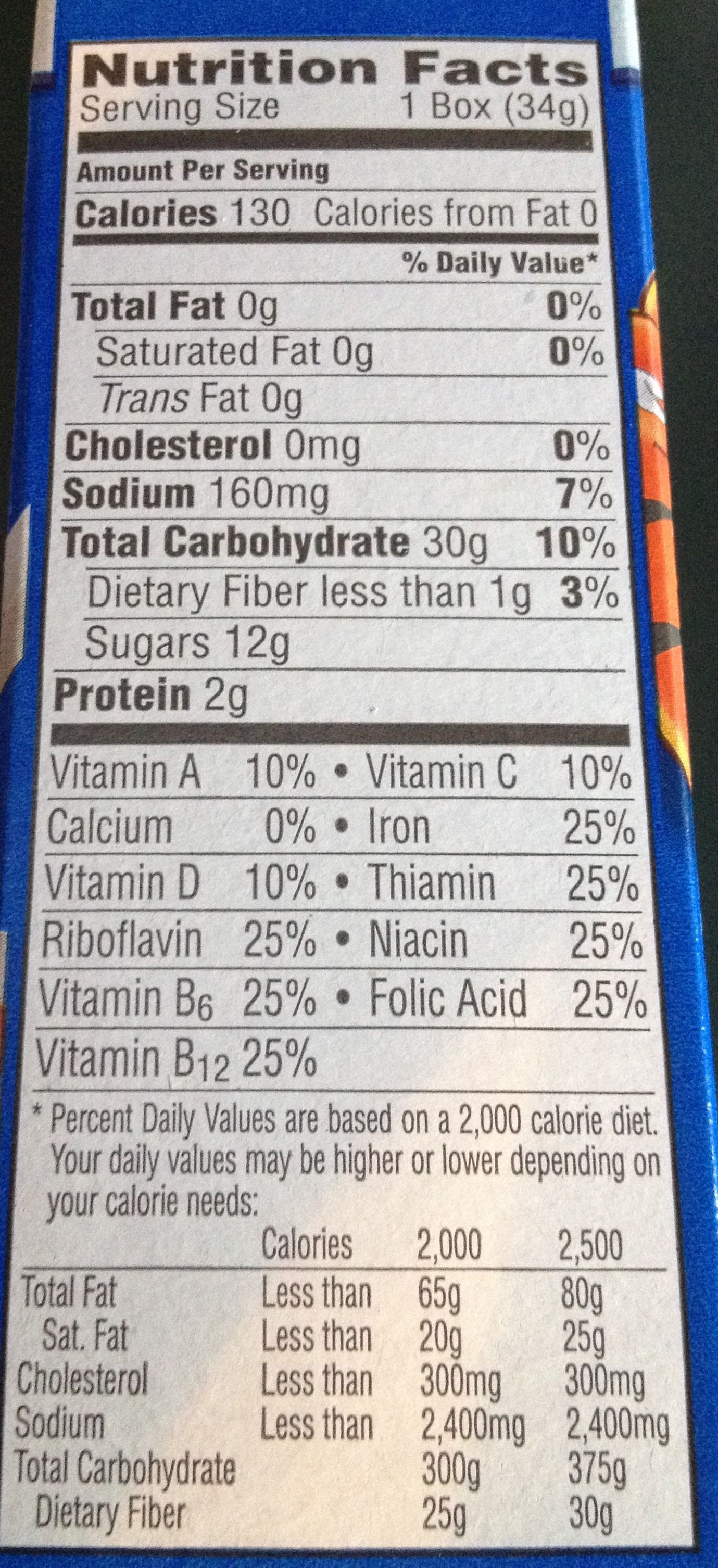 Kelloggs breakfast cereal - Nutrition facts - en
