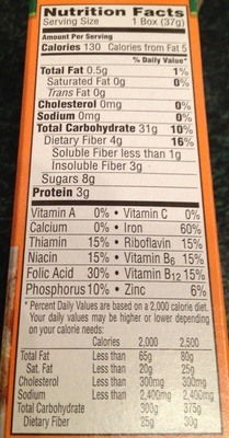Kellogg's, mini wheals, lightly sweetened whole grain cereal, original, original - Nutrition facts - en
