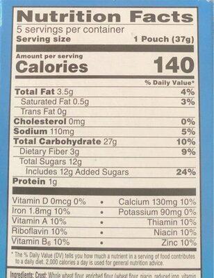 Nutri-Grain strawberry blast - Nutrition facts - en