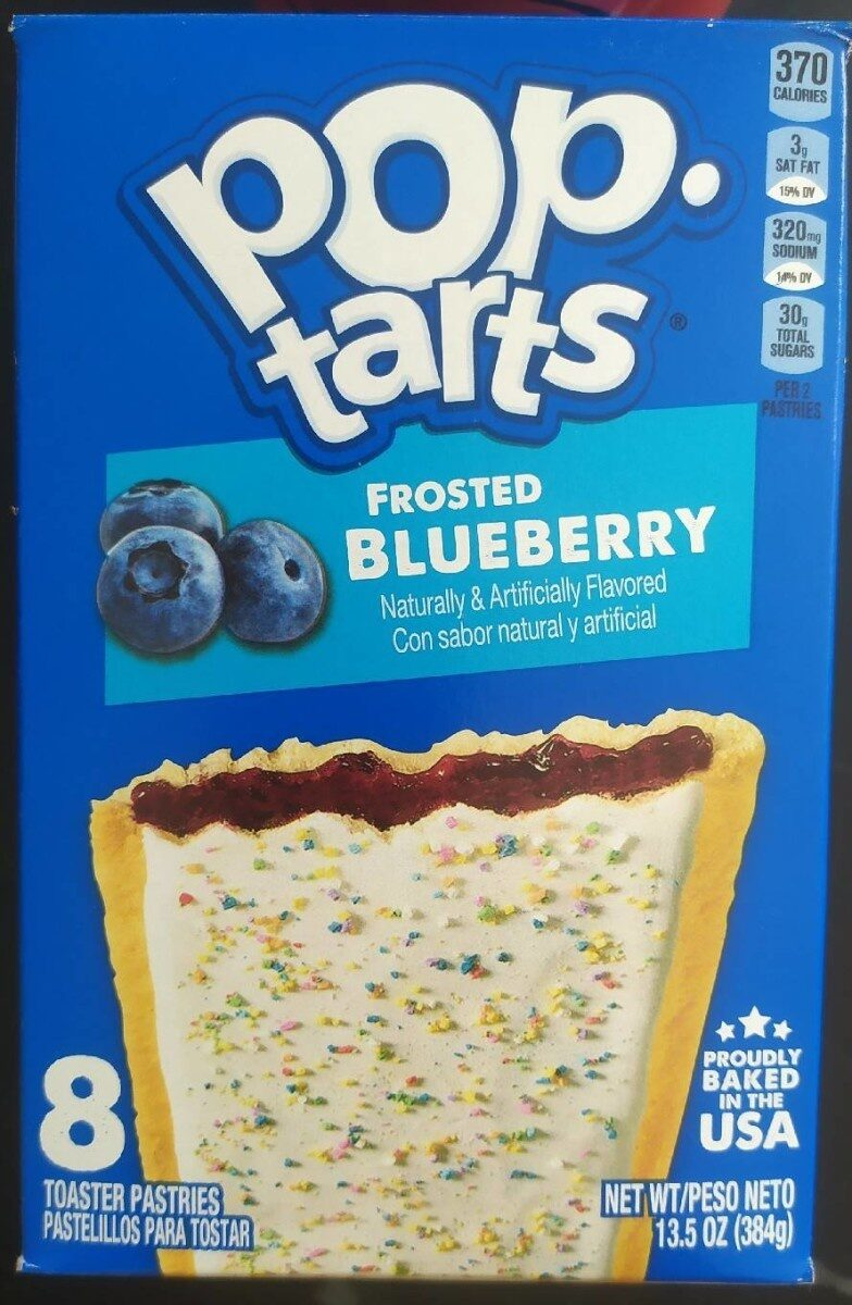 Frosted blueberry toaster pastries - Product - en