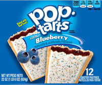 Frosted blueberry pastries - Product - en