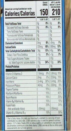 Frosted flakes - Voedingswaarden - en