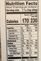 Oatmeal Cream Pies Cereal - Nutrition facts - en