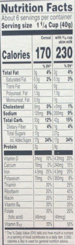 Little Debbie Oatmeal Creme Pies Cereal - Nutrition facts - en