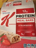 Protein strawberry meal bars - Product - en
