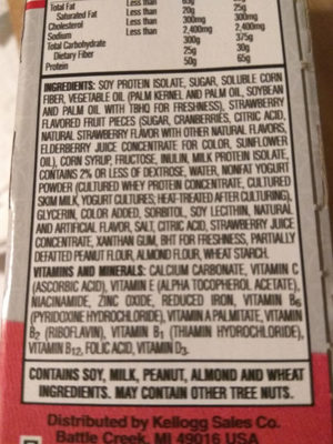 protein meal bars - Ingredients