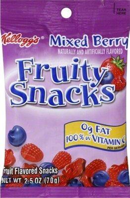 Fruity snacks fruit flavored snacks - Product - en