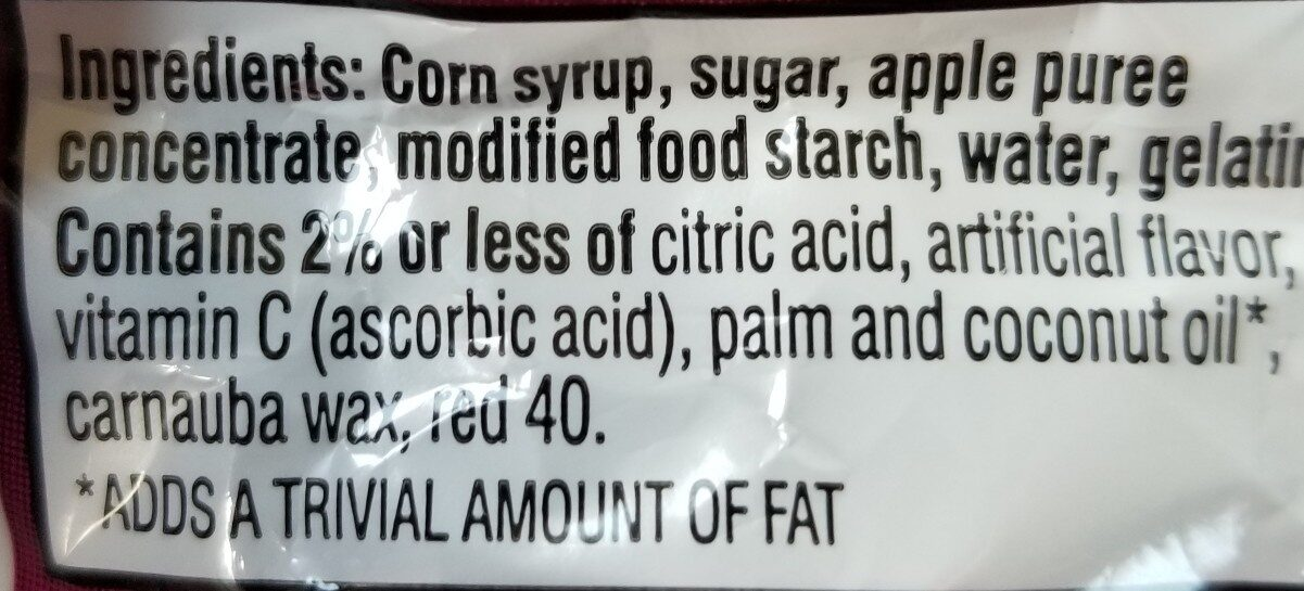 Kellogg's Fruity Snacks Cherry Fruit Flavored Snacks - Ingrediënten - en