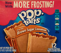 Frosted brown sugar cinnamon toaster pastries, brown sugar cinnamon - Product - en