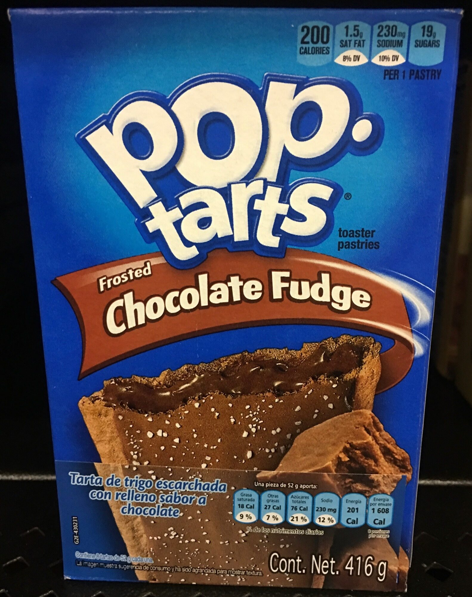 Toaster pastries, frosted chocolate fudge - Produit - en