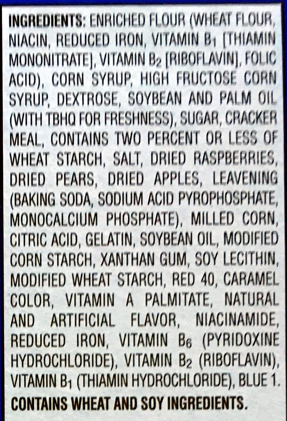 Pop Tarts Frosted Raspberry - Ingrediënten - en