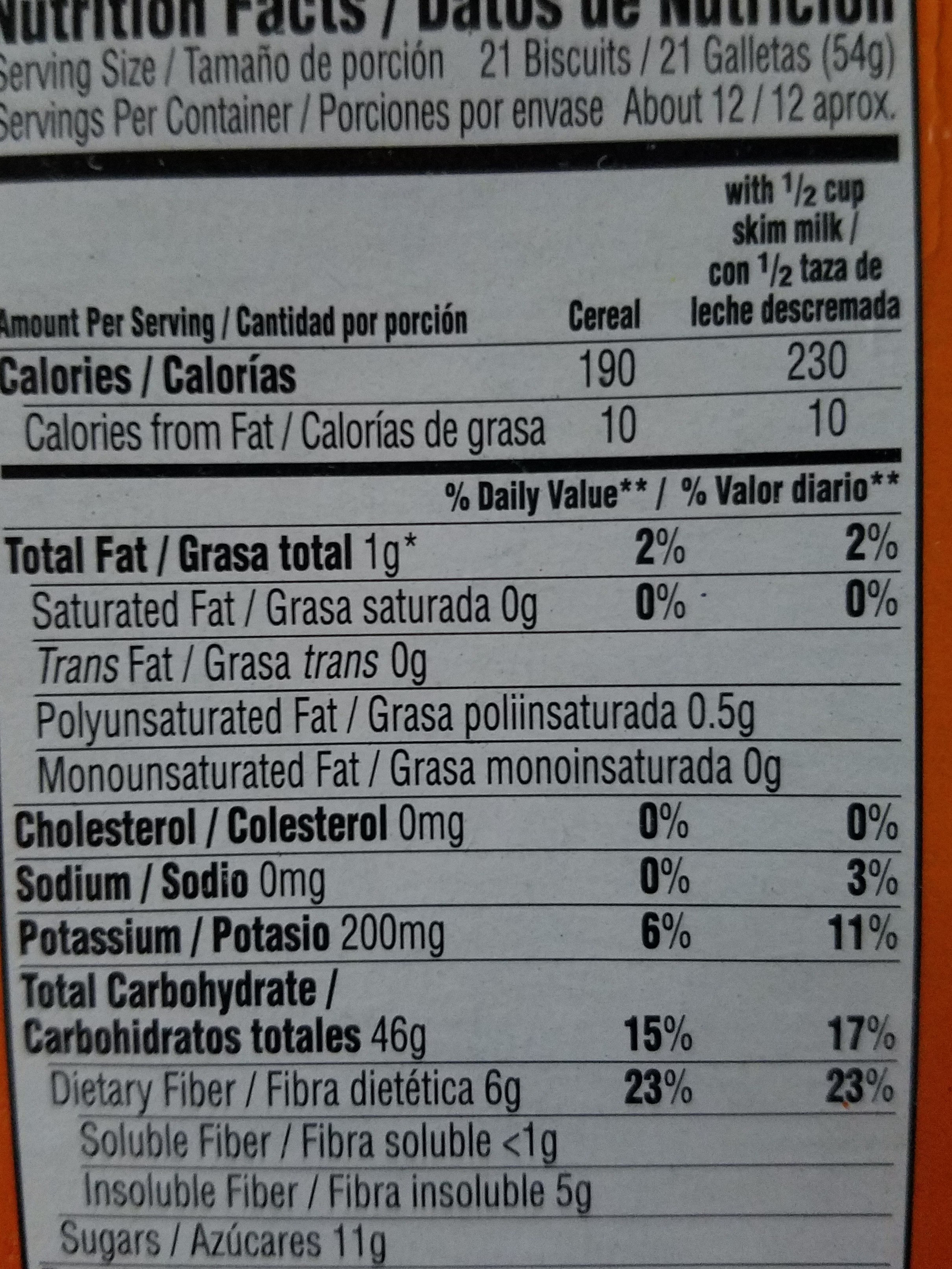 Frosted Mini Wheats - Nutrition facts