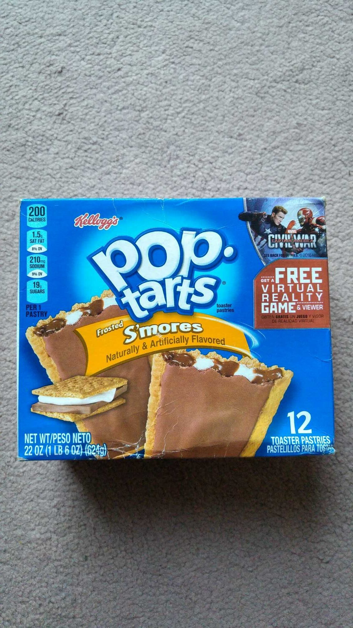 Toaster pastries, frosted s'mores - Product - en