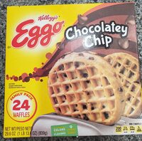 Chocolatey chip waffles, chocolatey chip - Product - en