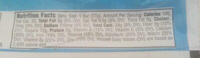Nutri grain - Nutrition facts