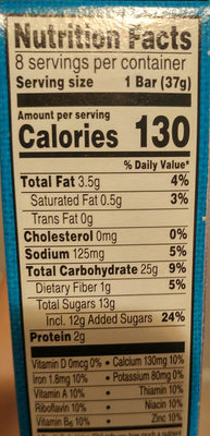 Nutri Grain blueberry - Nutrition facts