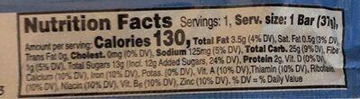 Kellogg's Nutri-Grain Cereal Bars Blueberry 1.3oz - Nutrition facts - en