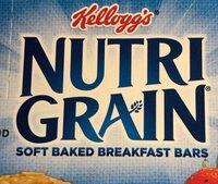 Kelloggs nutrigrain strawberry cereal bars - Produit - en