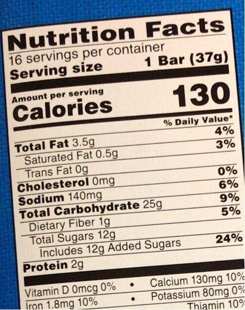 Kelloggs nutrigrain strawberry cereal bars - Informations nutritionnelles - en