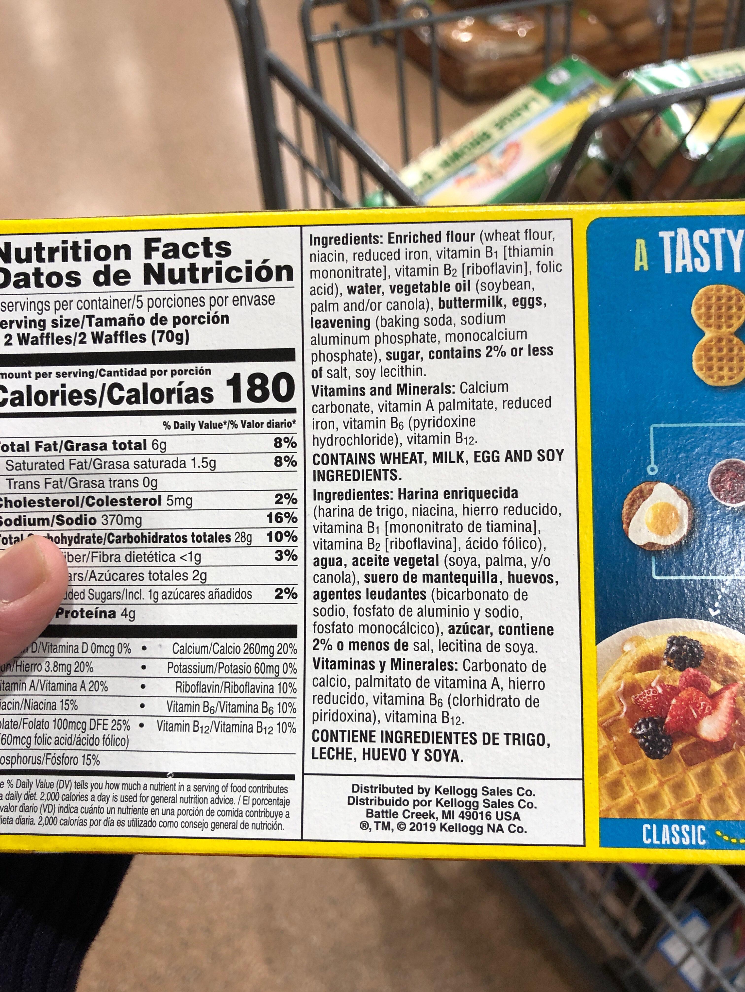 Buttermilk waffles - Ingredients - en