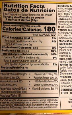 Buttermilk waffles - Nutrition facts - en