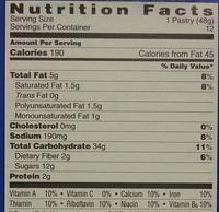 Poptarts Hot Fudge Sundae - Nutrition facts