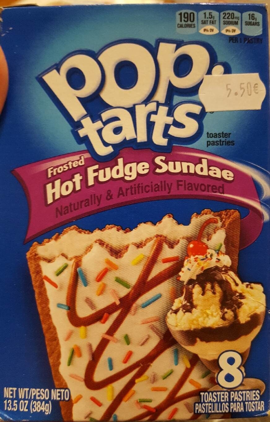 Toaster pastries, frosted hot fudge sundae - Product - en