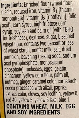 Toaster pastries, frosted pumpkin pie - Informations nutritionnelles - fr