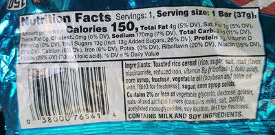Crispy marshmallow squares - Ingredients - en