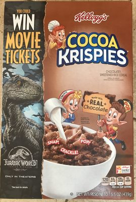 Rice cereal, chocolatey, sweetened - Product - en