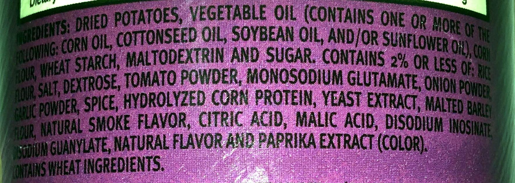 Bbq potato crisps - Ingredients - en