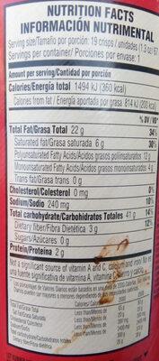 Potato crisps - Información nutricional - es